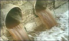Pipes dumping polluted water